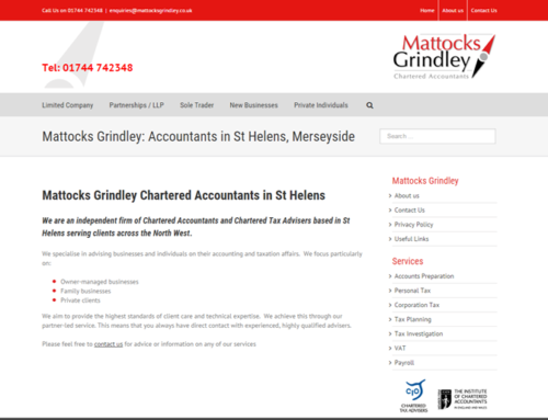 Mattocks Grindley Accountants, St Helens